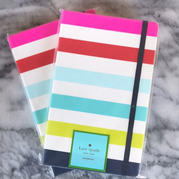 kate spade Other - Colorful striped covered Kate Spade notebook